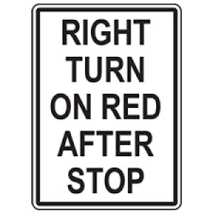 right turn after full stop