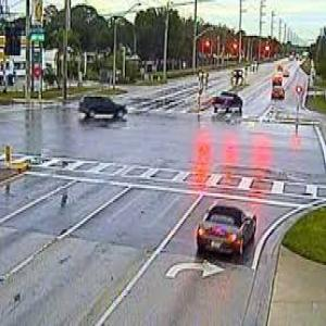turning on a red light