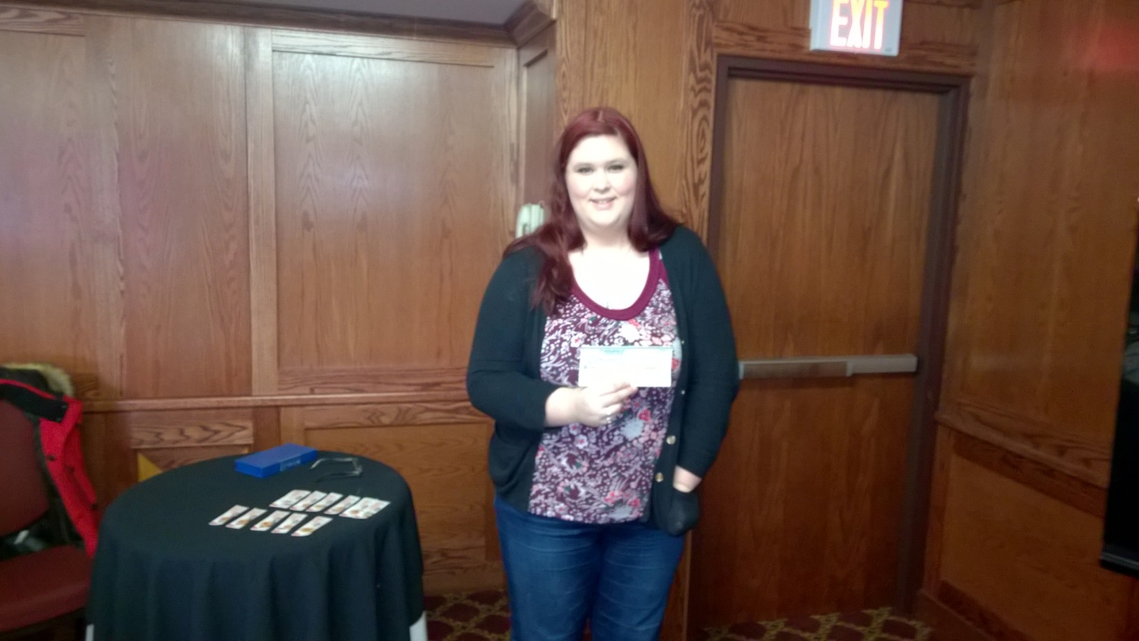 Nicole Hart. 1 of the winners of our 50:50 draw December 27, 2016 class.